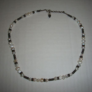 Fresh Water Pearls Silver Necklace